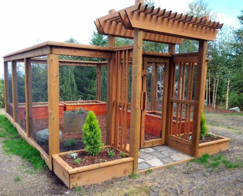 Sequim ONA Landscaping Enclosed Garden