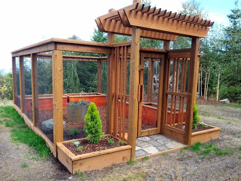 Sequim ONA Landscaping Enclosed Garden