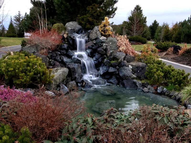 Sequim ONA Landscaping Waterfall