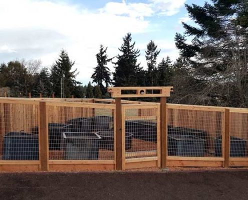 Sequim ONA Landscaping Fence