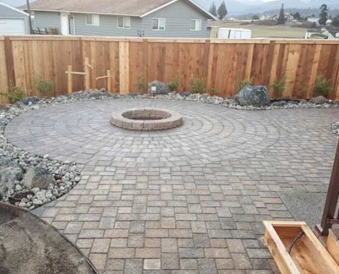 Fire pit in outdoor living spaces.